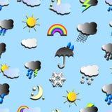 Weather Symbols Background Royalty Free Stock Photo