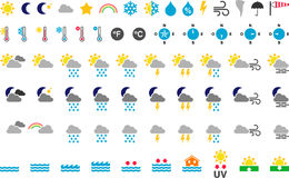 Weather symbols royalty free illustration