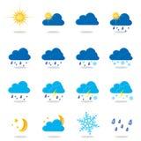 Weather Symbols Stock Photo