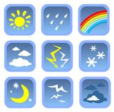 Weather symbols set Stock Photos