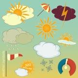 Weather symbols set Royalty Free Stock Photo