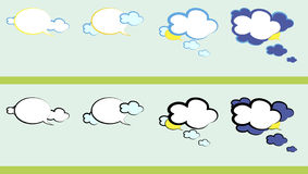Weather talk. Royalty Free Stock Images
