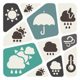 Weather theme background Stock Images