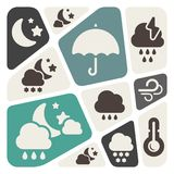 Weather theme background Stock Image