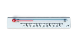 Weather thermometer  on white background. 3d rendering Royalty Free Stock Image