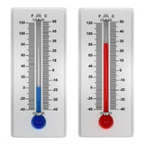 Weather thermometers Stock Photography