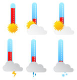 Weather Thermometers Royalty Free Stock Photography