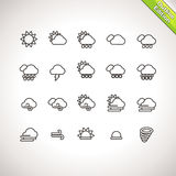 Weather Thin Line Icons Royalty Free Stock Image