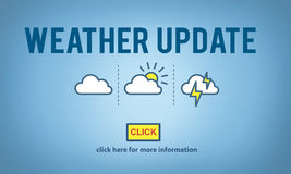 Weather Update Prediction Forecast News Information Concept royalty free stock photos