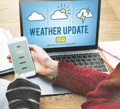 Weather Update Prediction Forecast News Information Concept Royalty Free Stock Photography