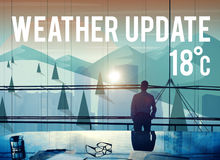 Weather Update Temperature Forecast News Meteorology Concept Stock Image