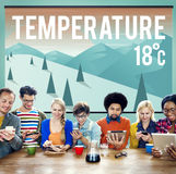 Weather Update Temperature Forecast News Meteorology Concept Stock Photography