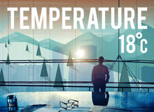 Weather Update Temperature Forecast News Meteorology Concept Stock Images