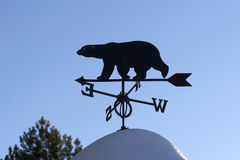 Weather vane. Photography of weather vane made in the North of Russia royalty free stock photos