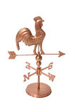 Weather Vane. A rooster weather vane isolated over white stock photography