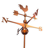 Weather Vane. Isolated over white - 3d render Royalty Free Stock Photography
