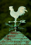 Weather Vane 2. Brass Weather Vane stock photo