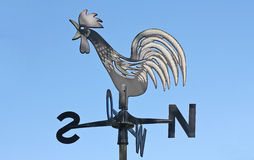 Weather Vane. A weather vane (or weathercock) is an equipment for showing the direction of the wind, typically used as an architectural ornament to the highest royalty free stock photography