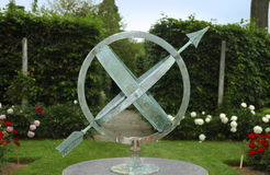 Weather Vane. Photo of a Weather Vane / Compass - Outdoor Garden Sculpture royalty free stock images