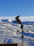 Weather vane. On clear day above the Vail Valley, Colorado royalty free stock photo