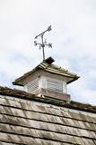 Weather Vane. At roof top stock images