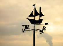 Weather vane. Silhouette royalty free stock image