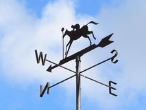 Weather Vane. A weather vane in racehorse style Royalty Free Stock Images