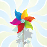 Weather vane. Color weather vane and wave Stock Photos