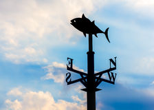 Weather vane against the sky Royalty Free Stock Photos