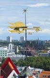 Weather vane-cock above the city. Tallinn Stock Image