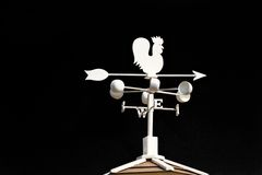 Weather vane - cockerel which reflected Stock Image