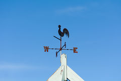 Weather vane with cockrell Royalty Free Stock Photography