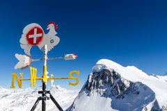 Weather vane. Colourful weather vane in the ski resort of Zermatt in Switzerland royalty free stock image