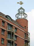 Weather vane FISH. On a turret of a residential building, Hamburg, Germany stock image