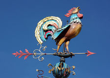 Weather vane in the form of a cock Stock Image
