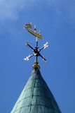 Weather Vane on the Guildhall, Londonderry. Galleon weather vane atop the Guildhall building, Londonderry, Northern Ireland Royalty Free Stock Images