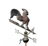 Weather Vane Isolated on White Royalty Free Stock Images