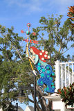 Weather vane. Little mermaid themed weather vane. outdoors, sunny day. Orlando, Florida Stock Photo