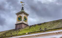 Weather vane on roof Royalty Free Stock Photo