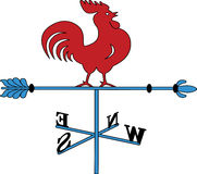 Weather Vane Rooster Stock Photo