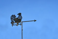 Weather vane - rooster Royalty Free Stock Images