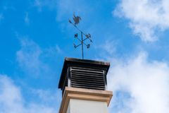Weather vane rooster royalty free stock image