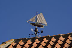 Weather Vane - Sailing Boat Royalty Free Stock Photography
