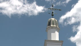 Weather vane (1 of 3). Scene in a typical U.S.Town stock video footage