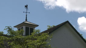 Weather vane (2 of 3). Scene in a typical U.S.Town stock video footage