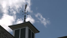Weather vane (3 of 3). Scene in a typical U.S.Town stock video