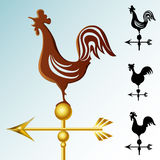 Weather vane set. With silhouettes Stock Photography