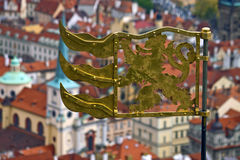 Weather vane. On a St. Vitus cathedral, Prague royalty free stock image
