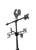 Weather Vane. Wind direction isolated on white background stock images