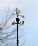 Weather vane wind marks with gall and the four cardinal points Stock Photo